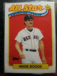 Wade Boggs all star trading card