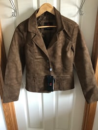 Brand New with tags Women's medium Brown leather micro suede jacket Edmonton, T5T 6B1