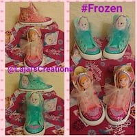 Elsa and Anna sneakers coolage