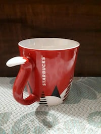 Starbucks holiday fox mug with tail handle.  Whitby, L1P 1A1