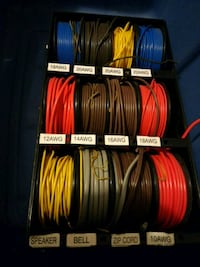 assorted-color speaker bell wire lot Welland, L3B 5N5