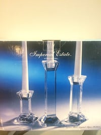 3 classic crystal candle holder Los Angeles, 91606