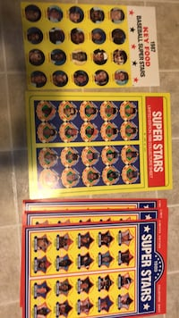 Full sheets of baseball promotional disc cards (5 sheets) 58 mi
