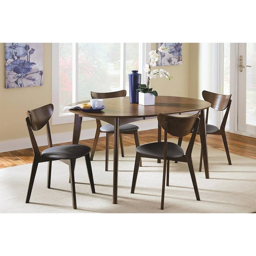 Black/walnut 5 piece dining set