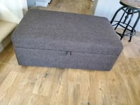 Huge Ottoman with fold out table, brand new