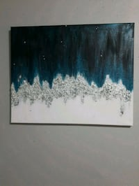 black and blue abstract painting Edmonton, T5W 4L8