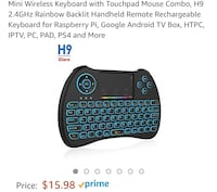 Mini Wireless Keyboard with Touchpad Fairfax