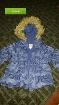12-18m winter jacket euc Delta