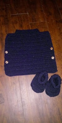 0-6 months boys poncho and booties