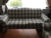 White and gray plaid sofa set  Silver Spring, 20902