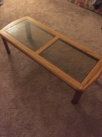 Rectangular brown wooden coffee table Weymouth, 02190