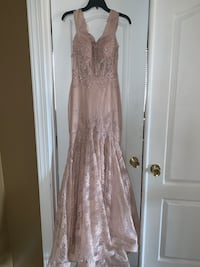 Blush evening gown