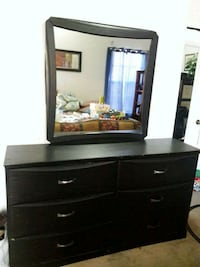brown wooden dresser with mirror Manassas, 20109