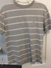 gray and white striped polo shirt Belleville, K8N 3A2