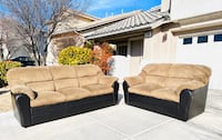 Brown corduroy couch and loveseat.. CAN DELIVER!! Henderson, 89074