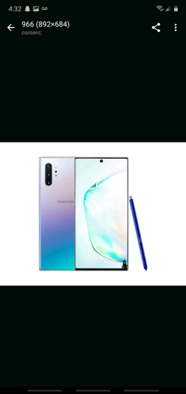 Note 10 plus with box and pen and headphones and charger e0003e06-0d04-4660-a9ac-4e0d956349ae