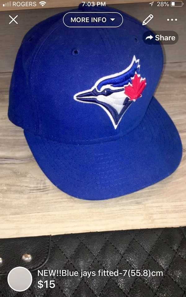 NEW!!Blue jays fitted-7(55.8)cm