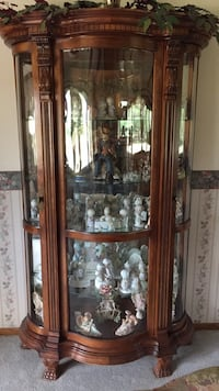 brown wooden framed glass display cabinet Doniphan, 68832