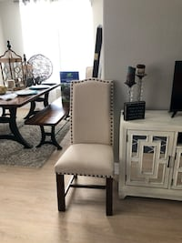 2 linen nailhead dining chairs Phoenix, 85254