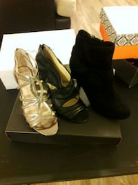 New three pairs of shoes size 6 1/2  Hillsborough