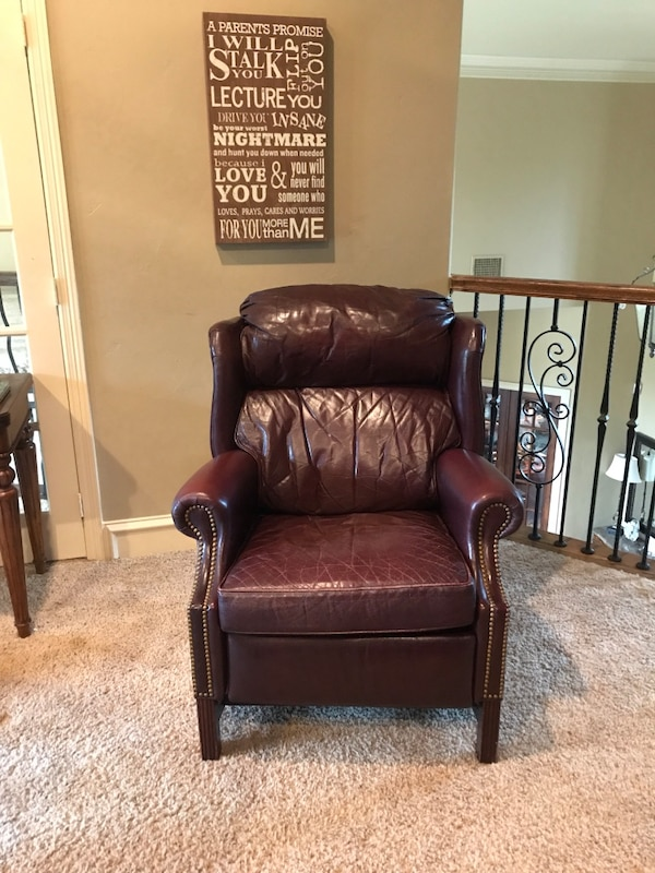 used brown leather recliner sofa chair for sale in dallas letgo