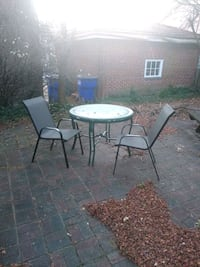 Patio table comes with the two chairs