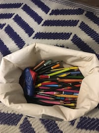 Colored pencils in nice insulated bag w/ color sheets  Virginia Beach, 23462