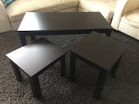 Wooden coffee table set espresso two end tables side table coffee table furniture  Toronto, M6B 3H9