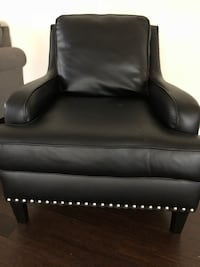 Laylanne Black Faux Leather Accent Chair with Nailhead Trim by Signature Design by Ashley Wall Township, 07719