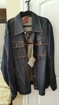 Unau brand blue denim button-up jacket Los Angeles, 90732
