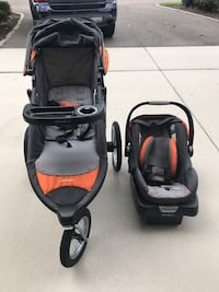 Baby's grey and orange travel system Riverview, 33578