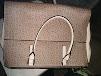 brown and white leather tote bag Citrus Heights, 95621