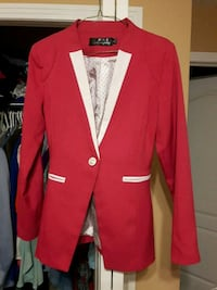 red and white button-up coat Edmonton, T5A