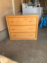 3 DRAWER SMALL WOOD DRESSER!!