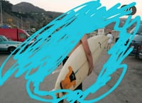 7'2 Rusty Surfboard Los Angeles, 90046