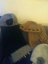 handmade crochet hat and scarf set