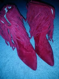 Red tassel ankle boots Washington, 20011