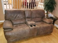 brown suede home theater sofa Toronto, M2J 4T4