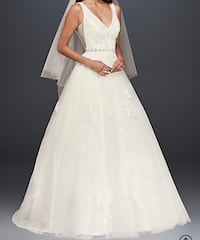 V-neck ball gown wedding dress Fairfax