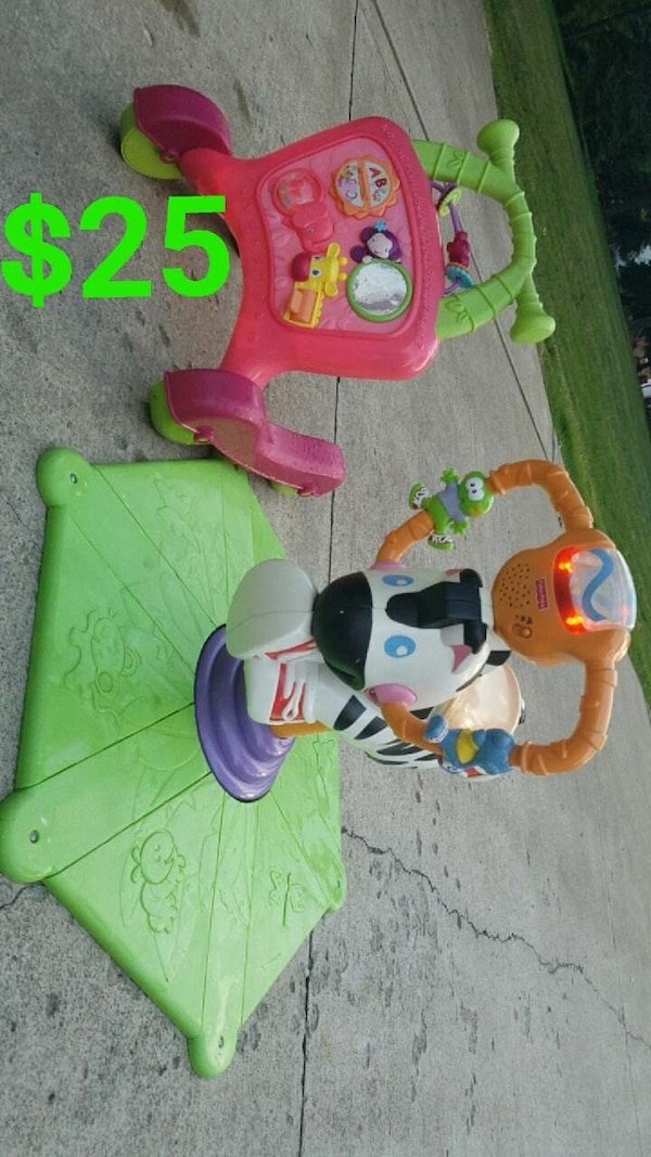 Used Sit Spin Amp Bounce Zebra Amp Baby Walker For Sale In