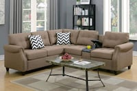 Brand New Light Coffee Color Linen Sectional Sofa  Wheaton-Glenmont, 20902