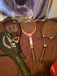 two black and red Wilson tennis rackets Houston, 77073