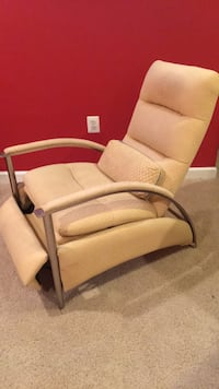 Ethan Allen recliner.  Very good condition.   Light yellow upholstery and in Very sturdy. Sterling, 20165