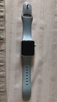 Space gray aluminum case apple watch with black sports band Hugo, 55038