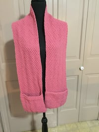 Pink and white knit cardigan Levittown, 19055