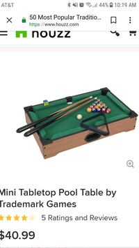 Table size pool table