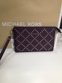 Authentic Michael Kors wristlet - Burgundy  Pickering, L1V 5N2