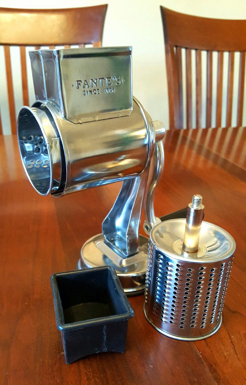 Fantes Cheese Grater with Suction-Base and 2 Drums The Italian Market Original