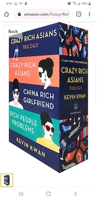 Crazy Rich Asians book Trilogy Toronto, M1R 1S3