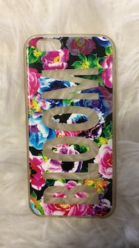 white, blue, and pink floral iPhone case Linden, 07036